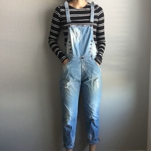 Zara blue denim overalls size small VERY RARE ITEM